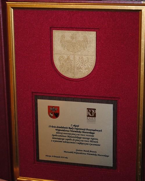 Podziękowania od Marszałka i Przewodniczącej Sejmiku dla Rady